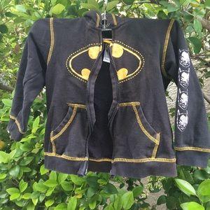 Batman sweater kids black yellow sweater 5T